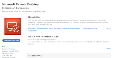 CW Web: Installing Microsoft Remote Desktop Client for Mac Computers