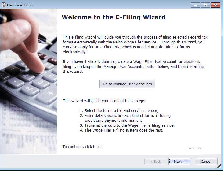 Run Wage Filer Wizard